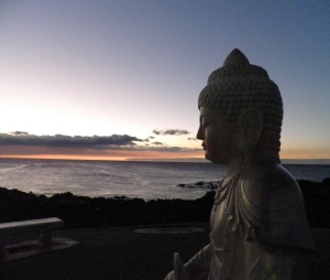 Buddha Point at our resort was a great place to watch the sunset