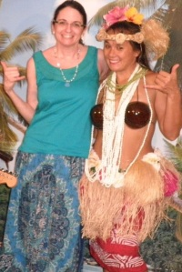 hangin' loose with a lovely hula dancer