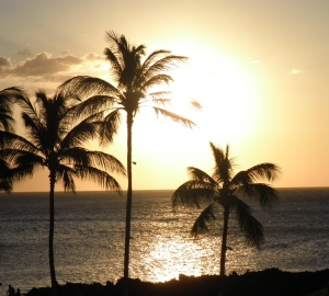 and the view from our balcony (lanai) at sunset