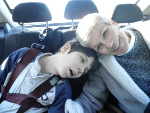 Jonah, leaning into grandma