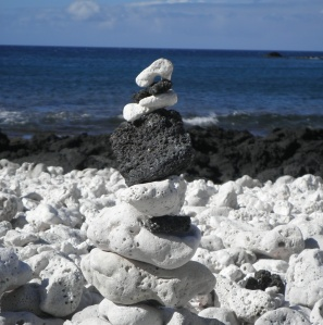 a rock cairn I made in Hawai'i