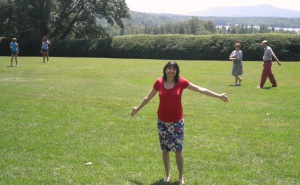 Me, at Tanglewood Sunday afternoon, about to enjoy Tchaikovsky, Bach, and Tellmann (all contemporaries; Beethoven and Mozart came next)