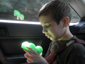 """the sun caught Jonah's """"octopus"""" and made it glow"""
