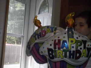 Boo, loving some colorful birthday balloons!
